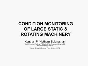 Condition Monitoring of Large Electric Machinery
