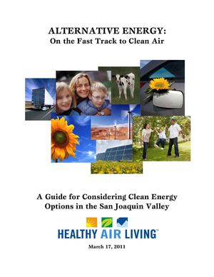 A Guide for Considering Clean Energy Options in the San Joaquin Valley, Calif