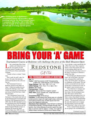 Redstone Golf Club (Tournament Course)