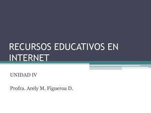 RECURSOS EDUCATIVOS EN INTERNET