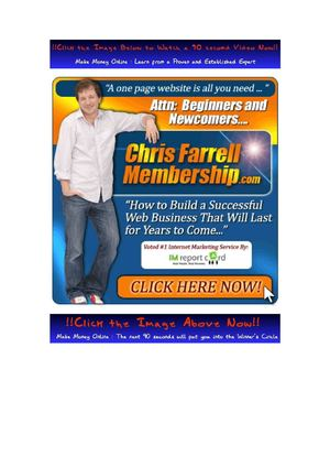 Chris Farrell Membership Review for Success with Your Online Business