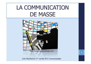 La Communication de masse