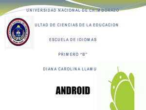 ANDROID SISTEMA OPERATIVO MOVIL