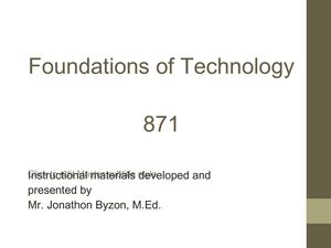 Foundations of Technology PPT Unit 1 Lesson 1