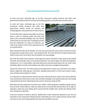 Is Your Commercial Roof At The End of Its Life