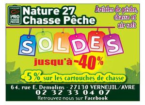 Soldes chez Nature 27 chasse pêche