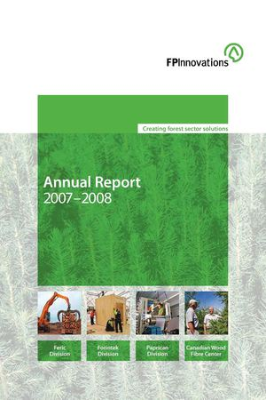 FPInnovations Annual Report 2007-08