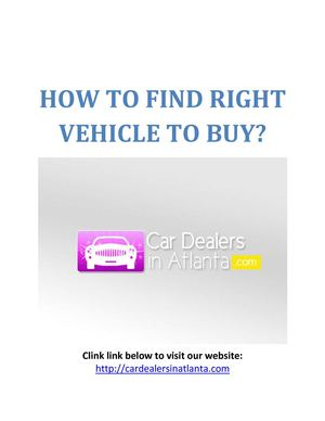 How To Buy Cars?