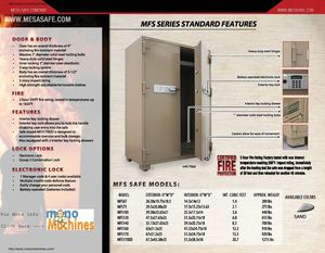 Mesa Safe MFS-67E Fire Safe Quick Specs