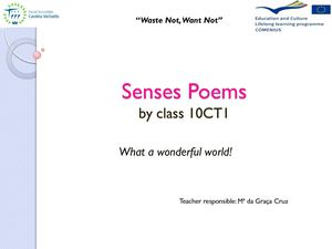 Senses Poems by class 10CT1