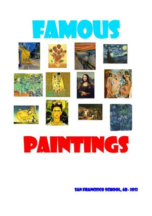 Some famous paintings
