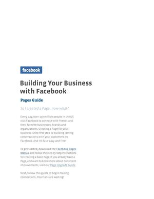 Facebook Pages Guide