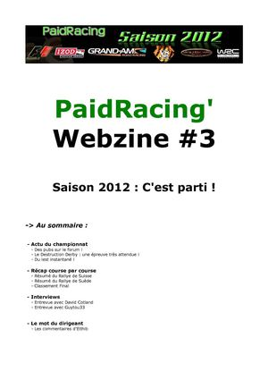 PaidRacing' Webzine #3