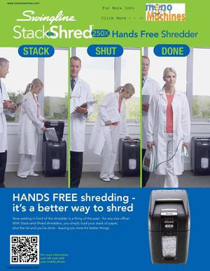 Swingline 250X Stack-and-Shred Automatic Shredder Info Sheet