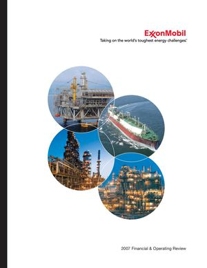Exxon Mobil | 2007 Financial & Operating Review