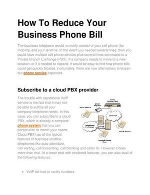 How To Reduce Your Business Phone Bill