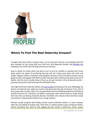 Where To Find The Best Maternity Dresses