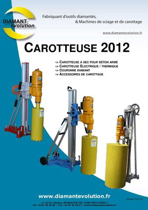 Catalogue Carotteuse 2012