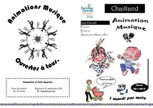 Tract Musique 0-3 ans CHAILLAND 2011-2012