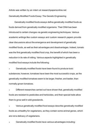 What Is A Thesis For An Essay Genetically Modified Foods Essay The Genetic Engineering Synthesis Essay Introduction Example also Essay Thesis Calamo  Genetically Modified Foods Essay The Genetic Engineering Example Of A Proposal Essay