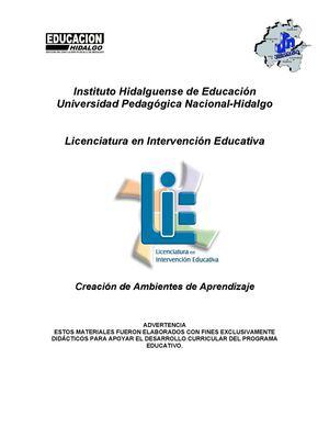 131bb1f738657 Calaméo - Creación de Ambientes de Aprendizaje