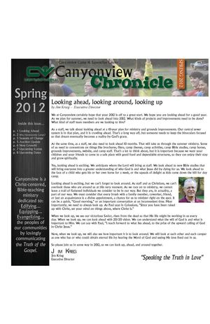 Canyonview Spring 2012 Newsletter