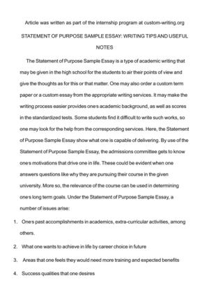 Calamo  Statement Of Purpose Sample Essay Writing Tips And Useful  Statement Of Purpose Sample Essay Writing Tips And Useful Notes Content Writing Services Usa also Review Writing Services  Biology Lab Report Writers