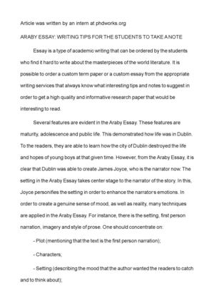araby essay twenty hueandi co araby essay