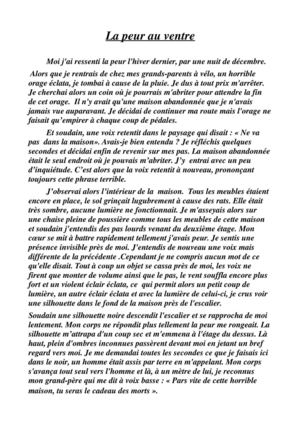 un exemple d un recit fantastique