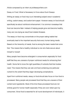 Sample Persuasive Essay High School Essay On Food What Is Necessary To Know About Such Essays Essay My Family English also Sample Essay Thesis Statement Calamo  Essay On Food What Is Necessary To Know About Such Essays Science In Daily Life Essay