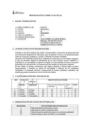 Calaméo - PROGRAMACION DE PRIMARIA