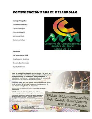 Calameo Curriculum Vitae Comunicacion Y Desarrollo