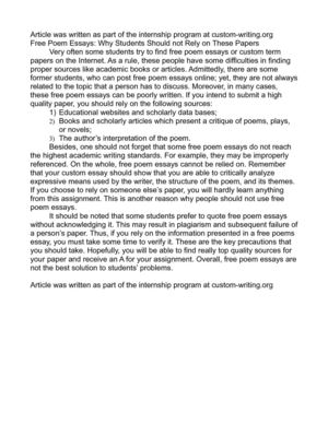Graduating High School Essay Free Poem Essays Why Students Should Not Rely On These Papers Proposal Essay also Health And Fitness Essays Calamo  Free Poem Essays Why Students Should Not Rely On These Papers Thesis Persuasive Essay