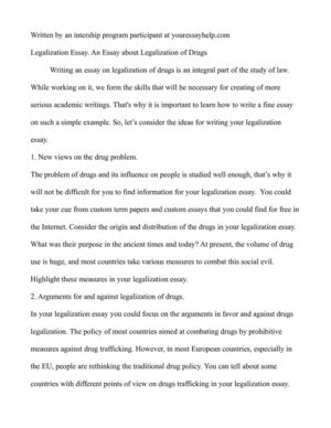Essay about drugs legalization cheap research proposal writers service for mba