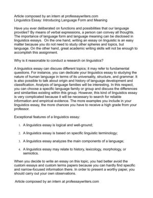 Thesis Persuasive Essay Linguistics Essay Introducing Language Form And Meaning My Country Sri Lanka Essay English also English Short Essays Calamo  Linguistics Essay Introducing Language Form And Meaning Romeo And Juliet Essay Thesis