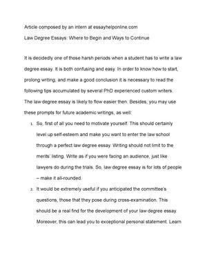 degree essay