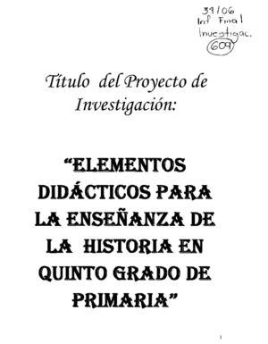 Calaméo - Elementos didácticos para la enseñanza de la historia en ...