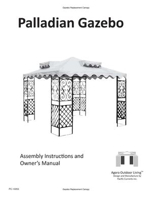 Calaméo - Palladian Gazebo Assembly Instructions and Owner ...