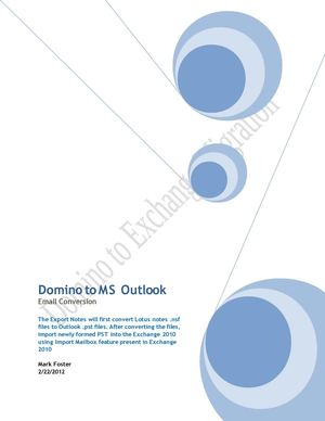 Domino to MS Outlook