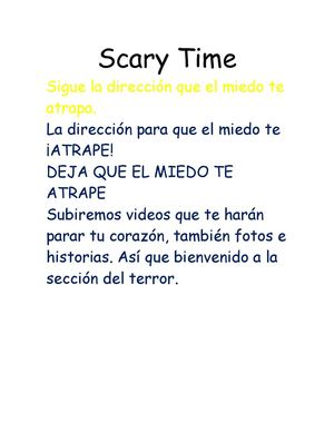 Scary Time