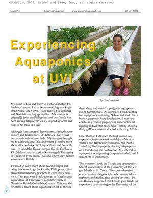 Experiencing Aquaponics at University of the Virgin Islands