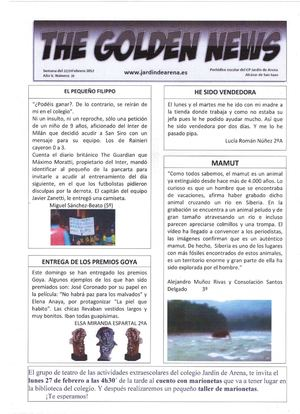 THE GOLDEN NEWS. Nº 20