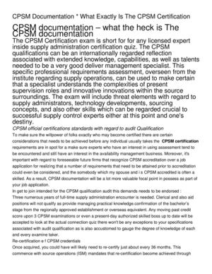 CPSM Documentation _ What Exactly Is The CPSM Certification (1)