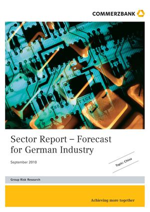 Commerzbank | Sector Report – Forecast for German Industry Sept 2010