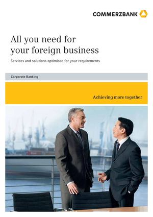 Commerzbank | All you need for your foreign business