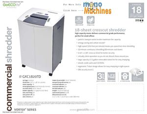 goecolife-gxc1820td-18-sheet-cross-cut-green-commercial-shredder-spec-sheet
