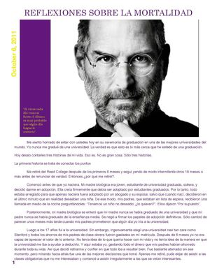 Reflexions about of Steve Jobs Life's