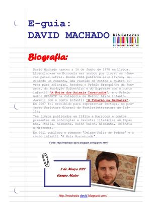e-Guia  David Machado