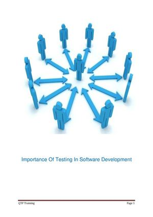 Importance Of Testing In Software Development Importance Of Testing In Software Development