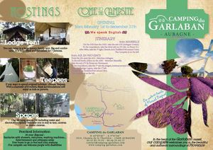 Brochure of Camping du Garlaban**